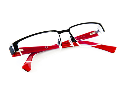 rimmed: Glasses with red frame