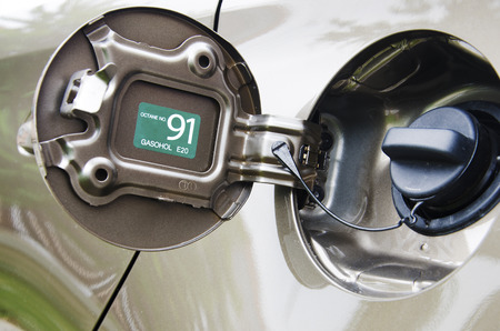 Auto Filler shown that the addition of benzene 91   Stock Photo