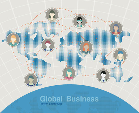 Map business world map in the background   Vector