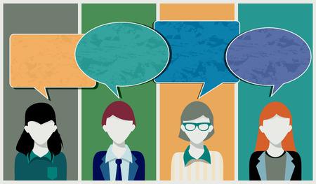 Verlobung: Das Feld der Ideen der Mitarbeiter zu bieten Illustration