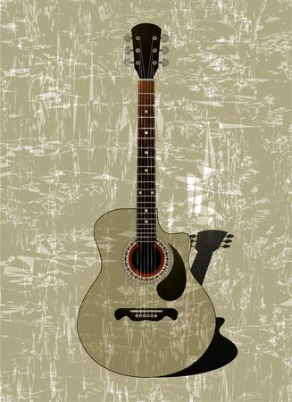 guitarra clásica: Guitarra cl�sica con un tel�n de fondo de la superficie irregular