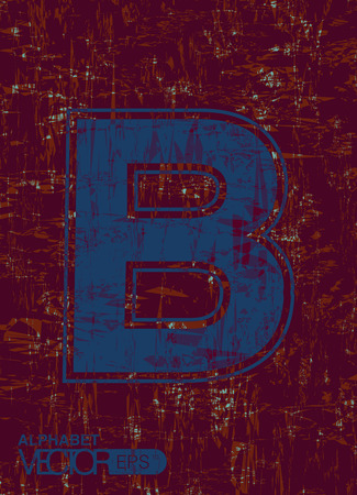 roughness: English letters with a blue background roughness.