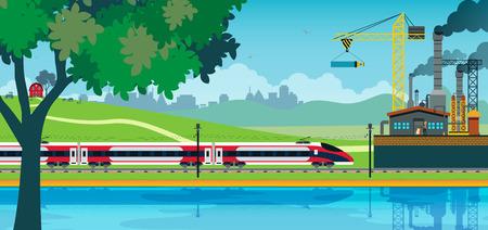 on train: De alta velocidad ferroviaria en el contexto de la industria.