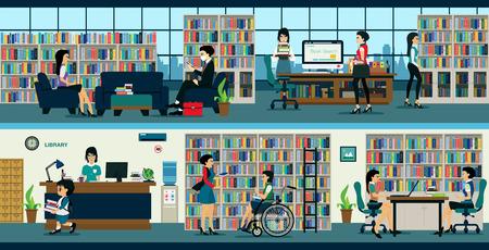 estudiante: La biblioteca está abierta para el uso público.