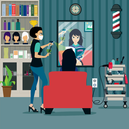 Beauty Salon customers are using the service.