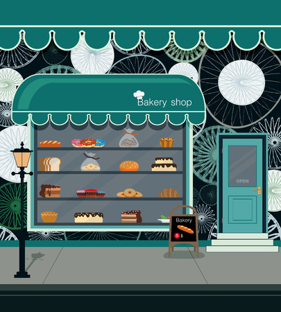Bread and bakery products in the store bakery. Stock Vector - 45013677