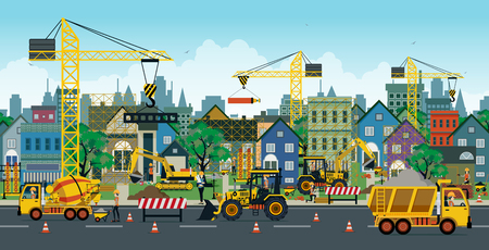 dumper: Engineers are creating buildings and homes in the city.