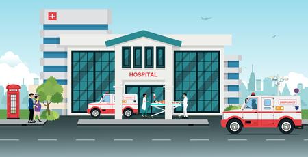 ambulances: Ambulances took the injured to the hospital.