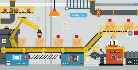 controlling: Engineers are controlling the production of industrial machine.
