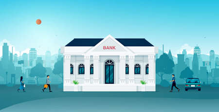 Bank building for citizens and businessmen in the city.
