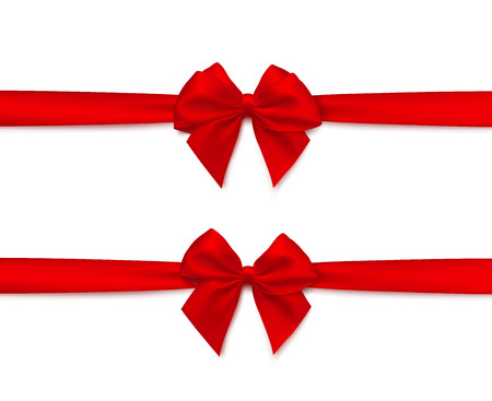 Red ribbon and a bow illustration.