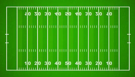 American Football Field. Textured Grass American Football Field - stock vector. Stock Illustratie