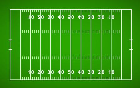 American football field textured grass American football field - stock vector.