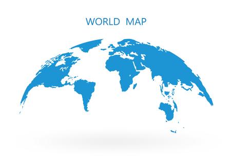 World Map Globe Isolated on white background stock vector illustration.
