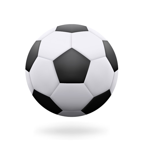 Realistic Soccer Ball isolated on white background - stock vector.
