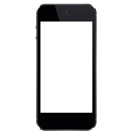 Smartphone with blank screen. Realistic mobile phone - stock vector. Çizim