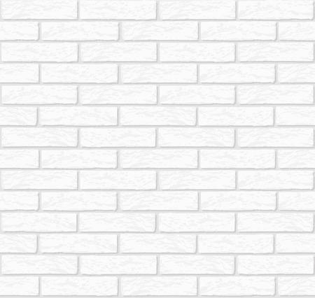 Vector white brick wall texture seamless - stock vector. Çizim