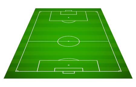 Green grass field background. Vector Football - Soccer Field