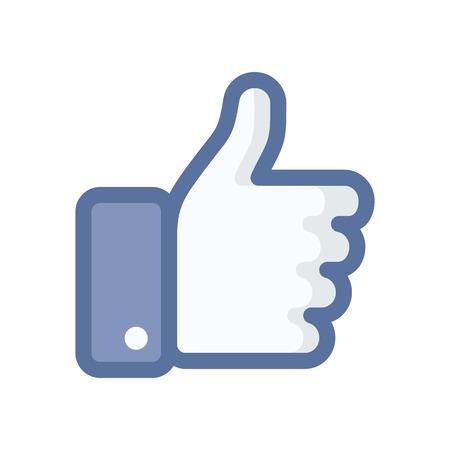 Hand like icon. Thumb up. Flat style - stock vector. Çizim