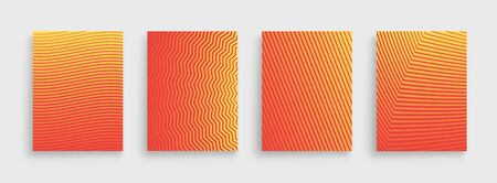 Minimal set covers design. Halftone gradients. Future Poster template Çizim