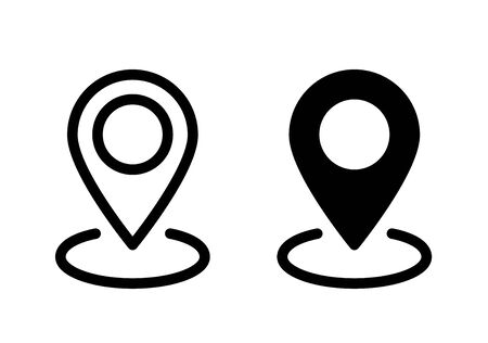 Map pointer icon. Line style. Flat style - stock vector.