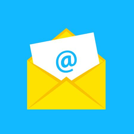 Email icon. Flat style - stock vector.