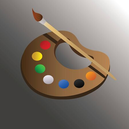 Illustration vector graphic of painting palette . Perfect for children toy, t-shirt image, icon, symbol etc.