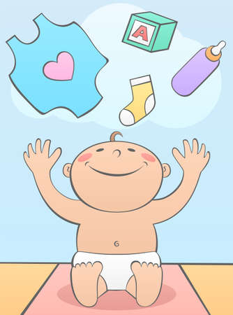 Baby Shower with Gifts Vector