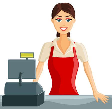 supermercado: Sonre�r Supermercado Caja Chica bienvenida a los clientes
