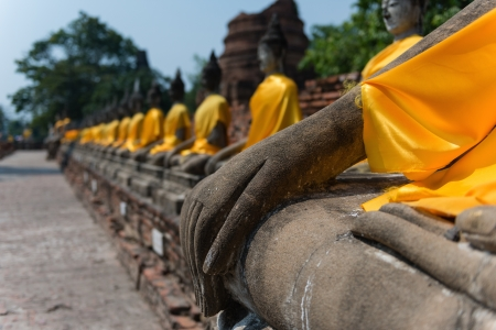 The ancient city of Ayutthaya in Thailand photo