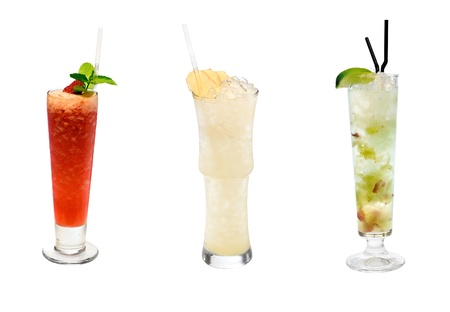 Cocktail Collection Isolated on White Background photo