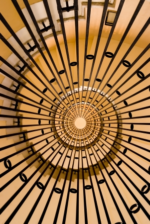 architectural element of the spiral staircase photo