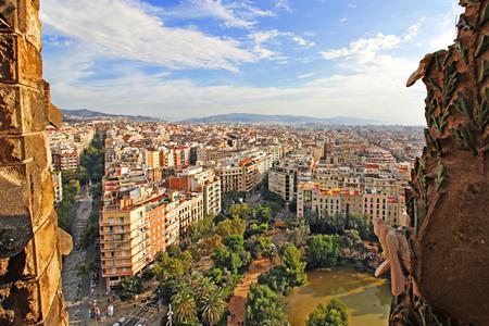 View of Barcelona from the La Sagrada Familia Editorial