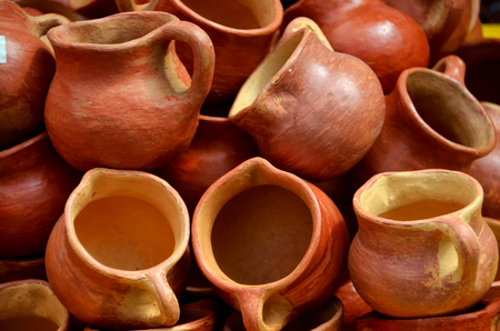 Lenca pots of mud, Gracia, Lempira Stock Photo