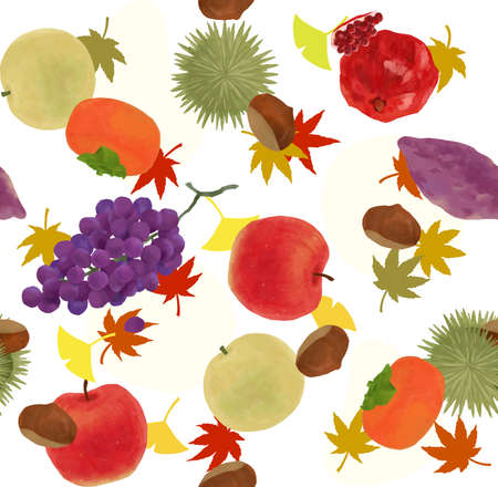 Fruit textile pattern of autumn taste to satisfy the autumn of appetite