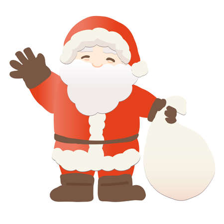 Vector illustration of Santa Claus waving with a smile Stock Illustratie