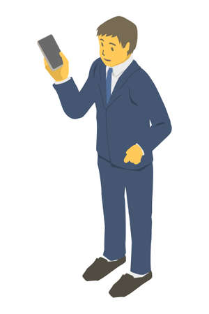 Vector illustration of business people in isometric projection
