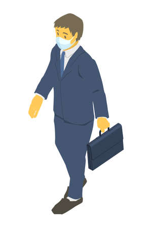 Vector illustration of a businessman wearing a mask Stockfoto - 153954607