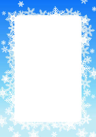 Poster vector illustration of a quiet winter snowflake motif