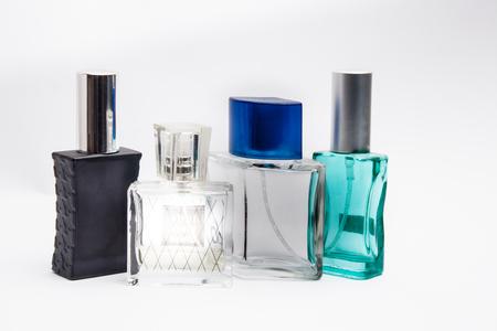 eau de perfume: bottles of different colors