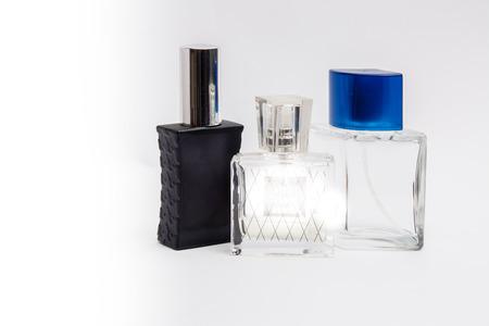 eau de perfume: bottles with spirits of different colors