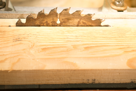Photo of a saw close-up, for sawing wood Stock Photo