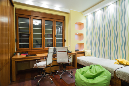 comfort classroom: Study room interior Stock Photo