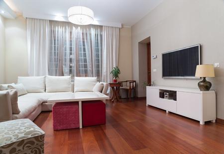 Luxury living room interior - evening shot