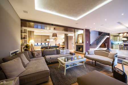 Interior of a luxury living room