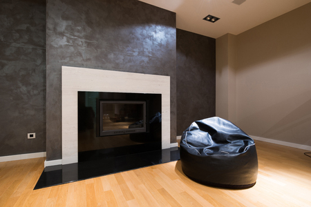 luxury apartment: Modern fireplace in luxury apartment