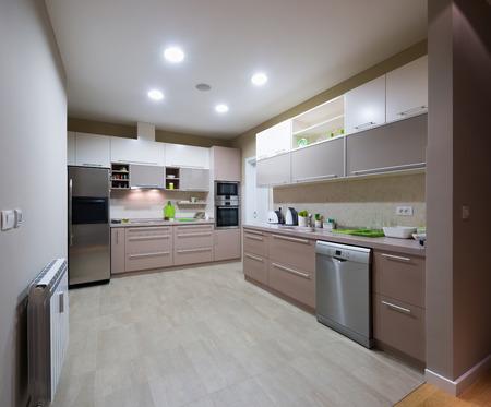 refrigerator kitchen: Interior of a modern kitchen