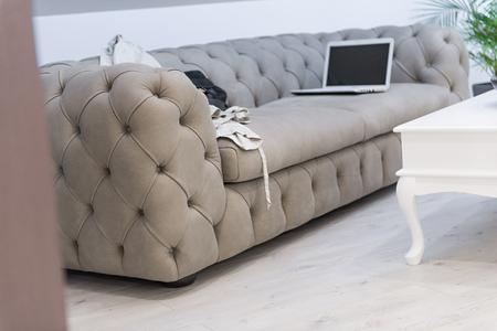 Loft apartment interior, living room, attic renovation Reklamní fotografie