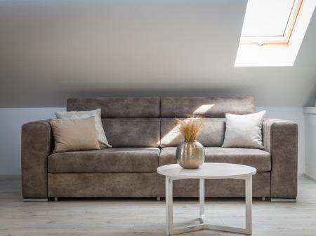 Interior of a loft apartment, living room