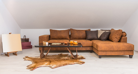 Interior of a living room in loft apartment Reklamní fotografie